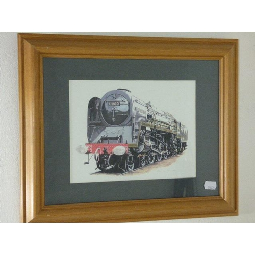 666 - Framed Johnaton Clay Transport Art approx. 17