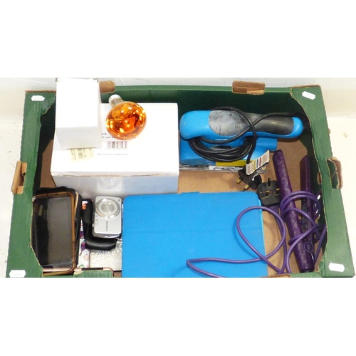 717 - Mixed Lot Including Amber Disco Lights, Electric Sander, Camera, Phone Cases and More...