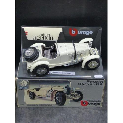 30 - Burago Die-Cast Mercedes Benz SSKL Complete with Original Box and Display Stand...