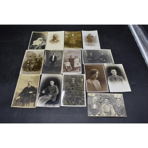 38 - Fourteen Vintage Potrait Real Photo Postcards...