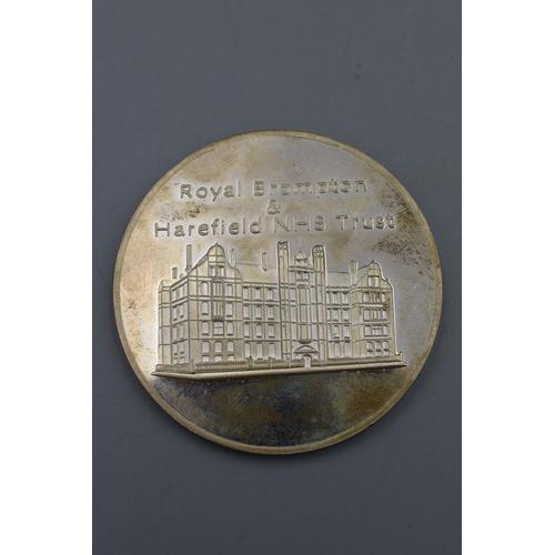 1 - Hallmarked Birmingham Silver Royal Brampton & NHS Trust Medal (Weight 52 grams)...