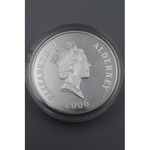 2 - Elizabeth II Alderney 2006 Silver Charles David Lucas Coin...
