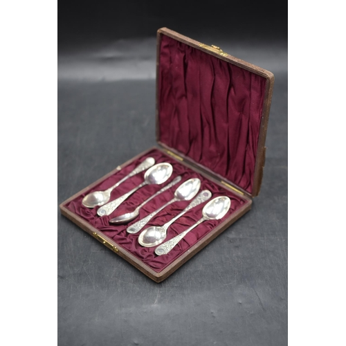 7 - Set of Silver Tea Spoons in Presentation Box...