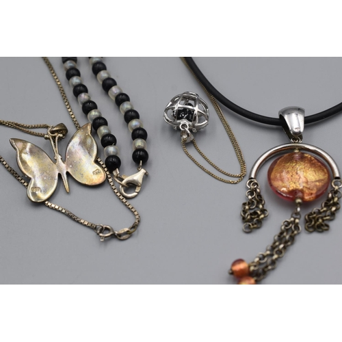 11 - Selection of 5 Silver Necklaces...
