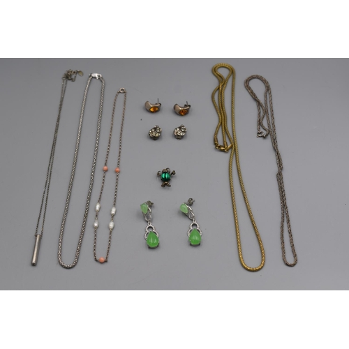 31 - Selection of Silver Necklaces, Earrings and Pendant...