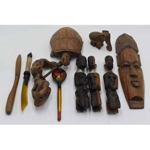 37 - Mixed collection of African Wooden carved Items...