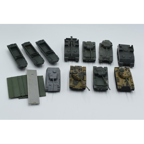 38 - Mixed Tray of plastic Army vehicles some a/f...