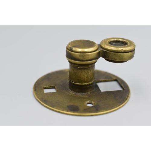 42 - Vintage Mitchell & Co Brass Magnifier...
