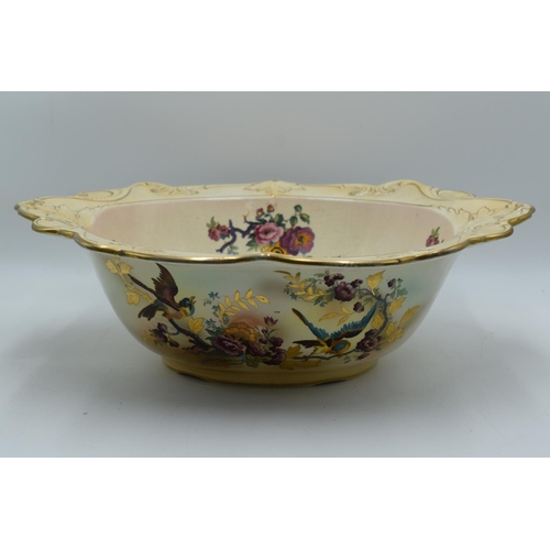 198 - Large Victorian Hand painted Wash Bowl (19