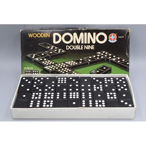 206 - Set of Wooden Double Nine Domino's in original box...