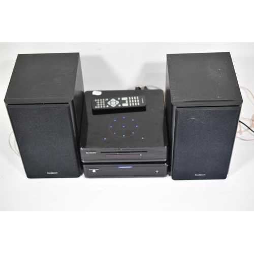 208 - SANDSTROM SHFTPPH10 Micro Hi-Fi System (DAB/AM/FM, CD, MP3, USB, 2x 50 Watts. (Radio working, CD Fau...