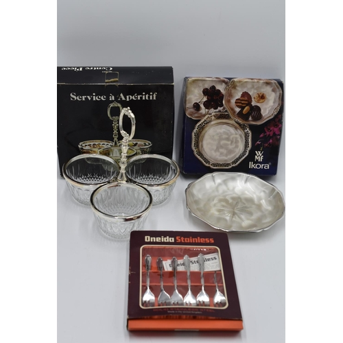 209 - Selection of Boxed Cutlery and Serving Dishes...