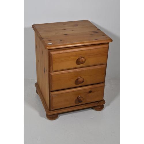 222 - 3 Drawer Pine Storage Cabinet...