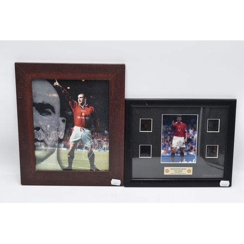 227 - Two Manchester United Pictures of Cristiano Ronaldo and one of Roy Keane original film cell special ...
