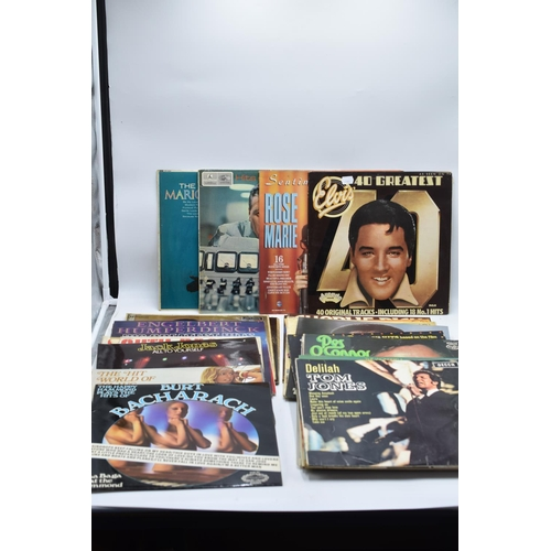 228 - Thirtyseven LP's to include Tom Jones, Elvis, Shirley Bassey, Barry Manilow, and many more,...