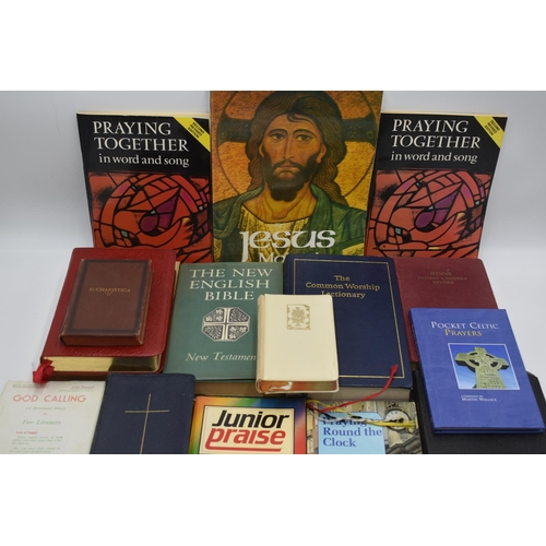 196 - Collection Of Bibles Prayer Books And Religious Books...