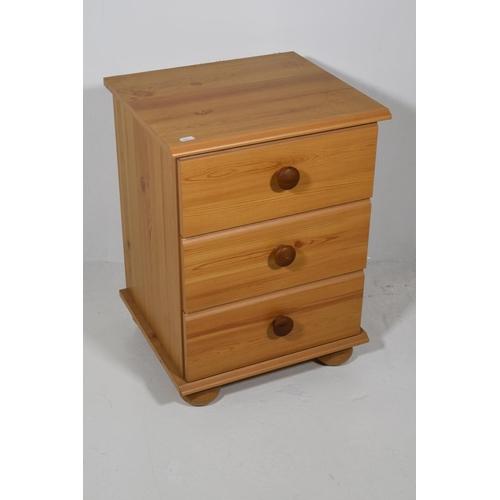 235 - 3 Drawer Pine Effect Storage Cabinet 23