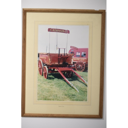 246a - Framed and Glazed Picture of a F.Robinson Ltd Brewers Dray approx 25