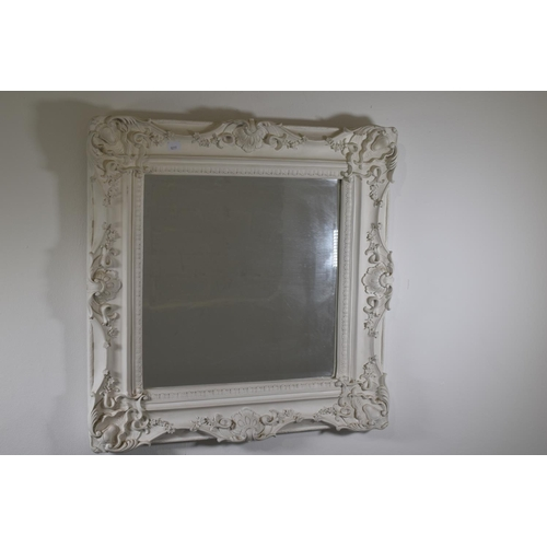 247a - Bevelled Edged Mirror Surrounded with a Ornate Decorative Moulded Frame 24
