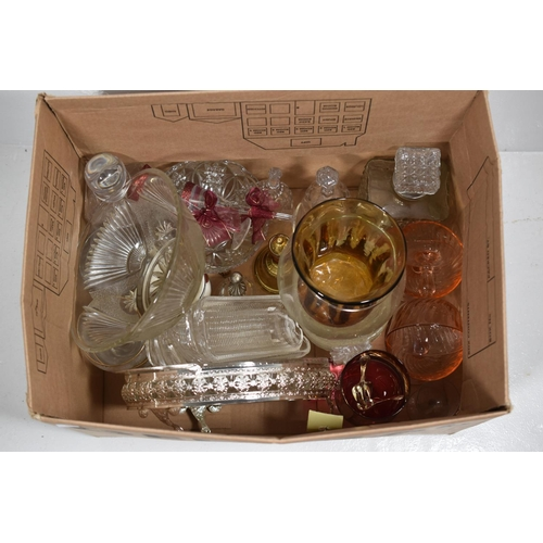 261 - Collection of Glassware to include Bells, Nibbles dish, Decanters and other...