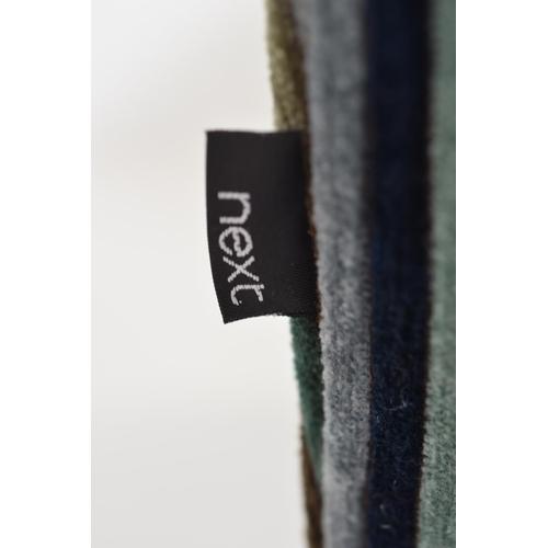 223 - Next Velour Pin stripped Club Armchair (28