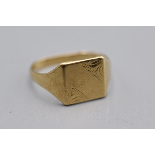 3 - Hallmarked London 375 Gold Ring Complete with Presentation Box...
