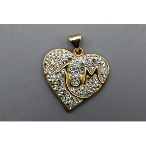 11 - Gold 375 Mum Pendant...