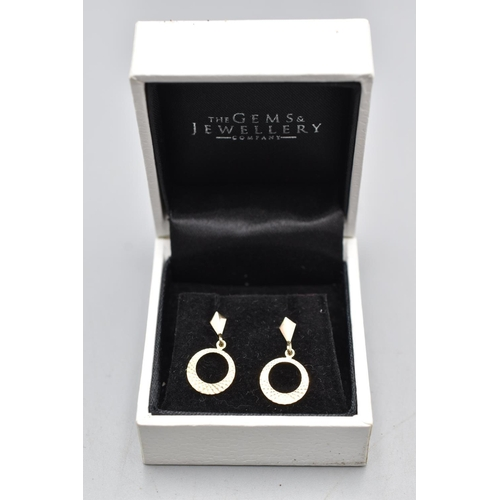 15 - Pair of 9ct Gold Earrings in Presentation Box...