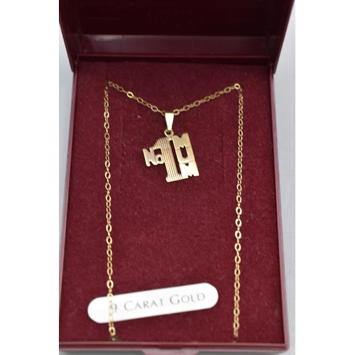16 - Number One Mum 9ct Gold Pendant and Chain Complete with Presentation Box...