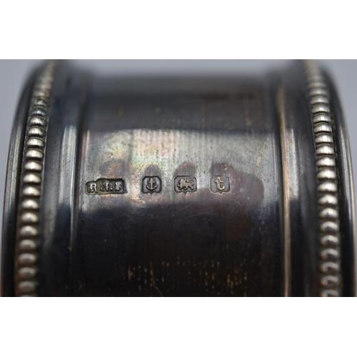26 - Pair of Matching Hallmarked Birmingham Silver Napkin Ring's...