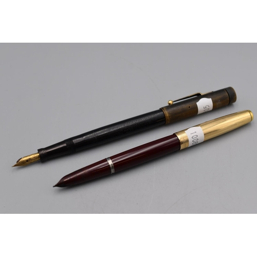 29 - Two Vintage Fountain Pens including Swan with 14ct Gold Nib and Parker...
