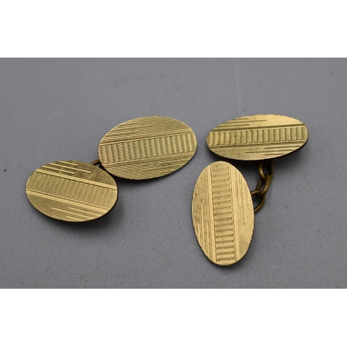 35 - Pair of Vintage Rolled Gold Cufflink's...