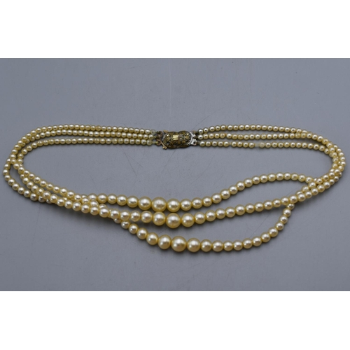 44 - Set of Rosita Pearl Necklace in Original Case with Guarantee...