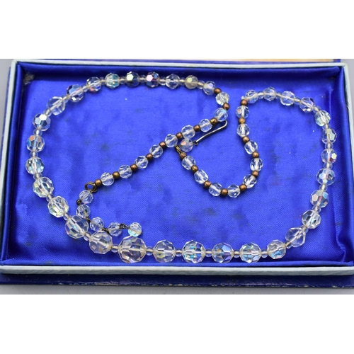 45 - Vintage Aura Borealis Necklace in Display Box...