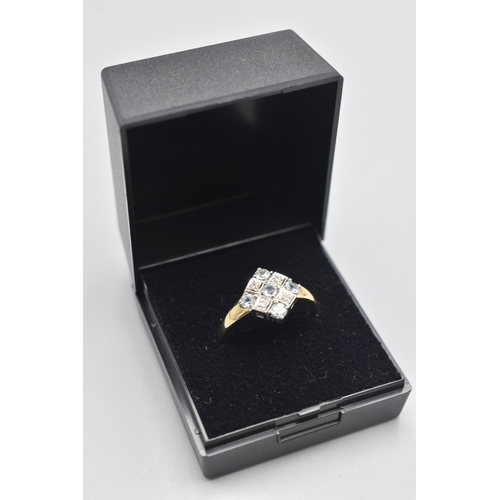 2 - Hallmarked London 375 Gold Aquamarine and Diamond Ring (Size T) Complete with Presentation Box...