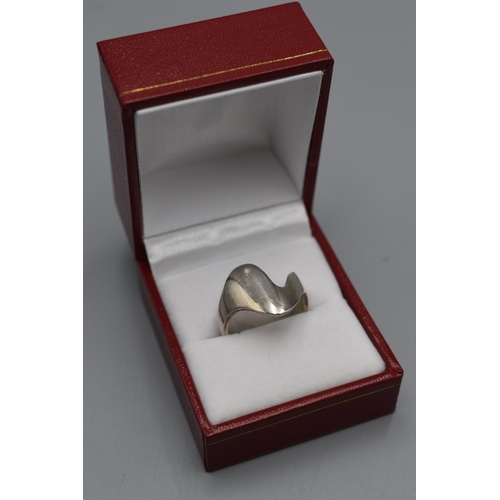 19 - Georg Jensen Silver 925 Ring (Size Q) Complete with Presentation Box...
