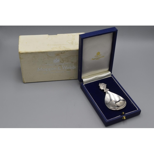 26 - Mappin & Webb Hallmarked Silver Spoon Complete with Original Case and Box...