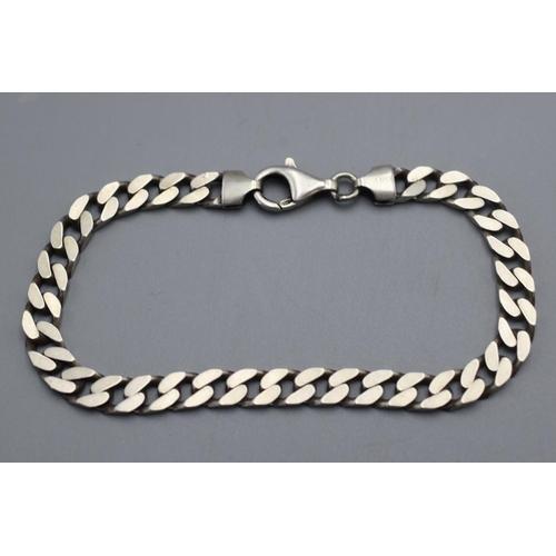 29 - Silver 925 Curb Link Bracelet with Presentation Box...