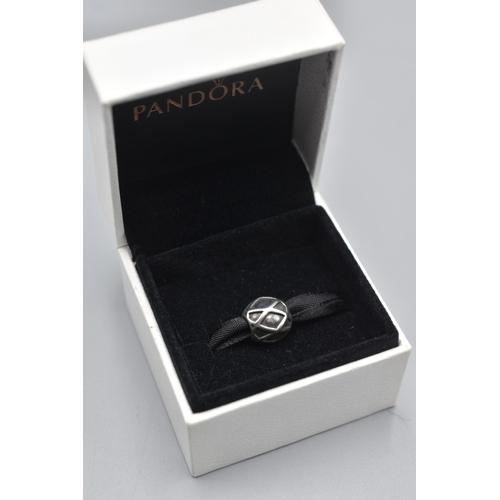 31 - Genuine Pandora Silver Celtic Style Charm Complete with Presentation Box...