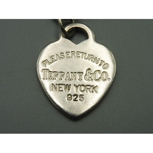 35 - Heavy Silver Necklace marked as Tiffany and Co...