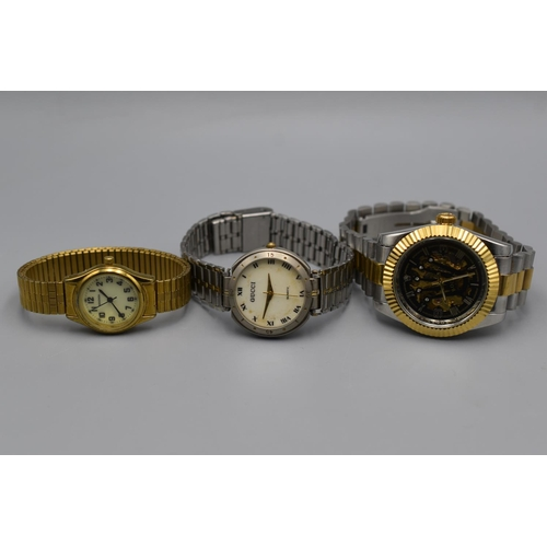 44 - Three Watches To Include Seconda and Others...