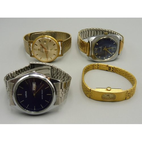 45 - Selection of 4 Mixed Watches including Cronel and Lorus...