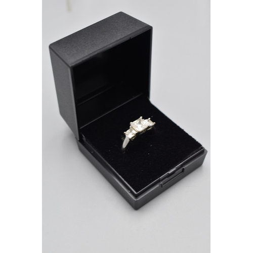 16 - Hallmarked Birmingham 950 Platinum Ring (Size P) Complete with Presentation Box...