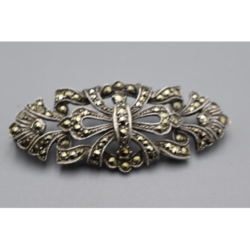 32 - Two Vintage Filigree and Marcasite Brooches...