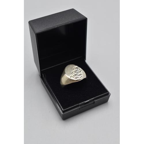 34 - Hallmarked Birmingham Silver Gent's Signet Ring (Size S) Complete with Presentation Box...