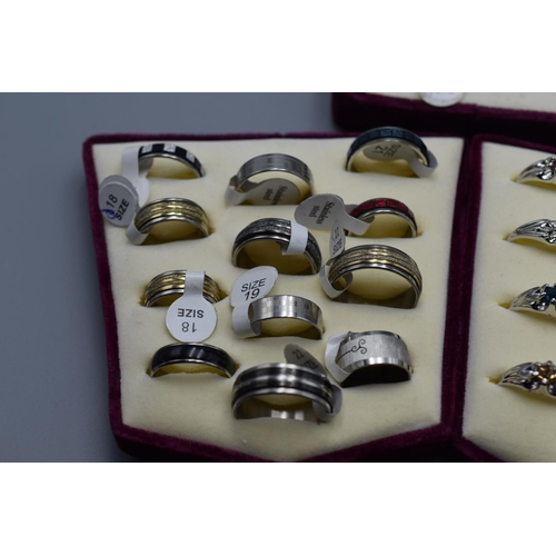 45 - Three Ring Stands/Pads containing Various rings...