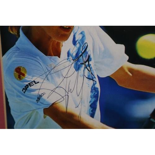 31 - Framed and Glazed Steffi Graf Signed Photos 18 x 11.5