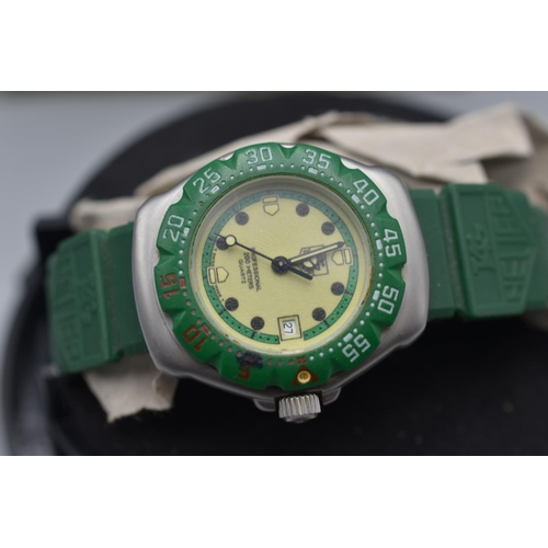 89 - Genuine Tag Heuer Professional Sports Watch with Case (Working When Tested)...