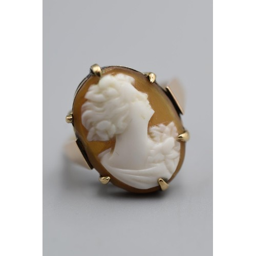4 - 9ct Gold Hallmarked Cameo Ring in Presentation Box