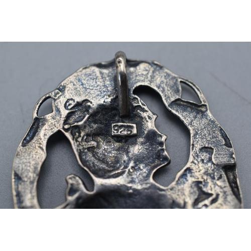 9 - Art Nouveau Silver 925 Pendant